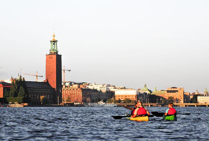 Paddla kajak Stockholm